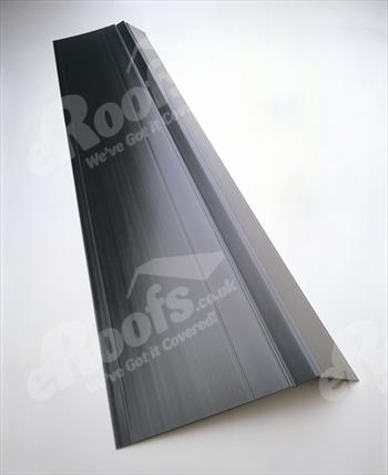 BLACK Onduline/Coroline Eaves Fascia Tray 1500mm