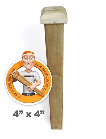 1500mm Handmade Fine Quality Newel Post (92mm Newel with 5 x 5 Flat Shaped Top)