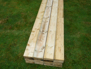 "5 1/2 x 1 1/2"" Treated & Graded Deckjoist"