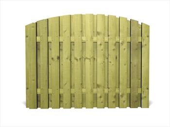 "Green - Arched Heavy Duty Tudor DOUBLE Panel (6' x 3' 6"")"