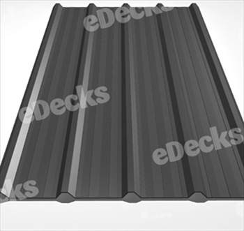 Anti Condensation Plastisol Coated Merlin Grey Box Profile Steel Sheets (16ft - 4877mm)