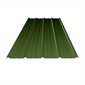 Anti Condensation Plastisol Coated Olive Green Box Profile Steel Sheets (14ft - 4267mm)