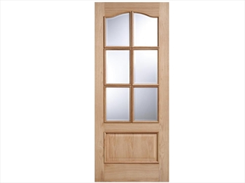 Kent Glazed 6L RM2S White Oak Door (Imperial)
