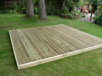 Easy Deck Patio Kit 4.2m x 4.2m (No Handrails)