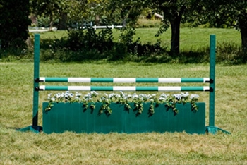 Green / White Painted Timber Jump Pole (100mm)