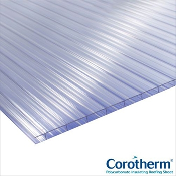 Clear Multiwall Polycarbonate 10mm (2500mm x 1050mm)