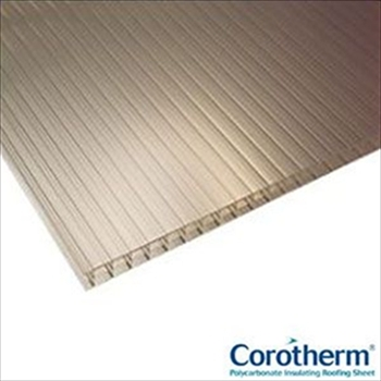 Bronze Multiwall Polycarbonate 16mm (2500mm x 900mm)