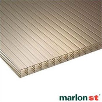 Bronze Multiwall Polycarbonate 25mm (3500mm x 800mm)
