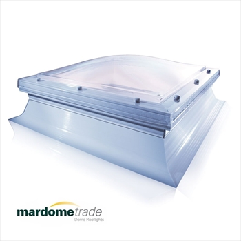 Single Skin - Fixed Mardome Trade Dome Rooflight With Sloping Kerb (1050mm x 1050mm)