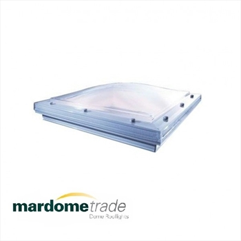 Single Skin - Vented Mardome Trade Dome Rooflight To Fit Builders Upstand (750mm x 750mm)
