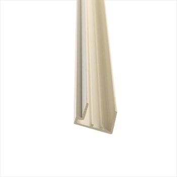 PVC White 25mm Polycarbonate Sheet End Closure (3500mm)
