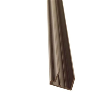PVC Brown 25mm Polycarbonate Sheet End Closure (3500mm)