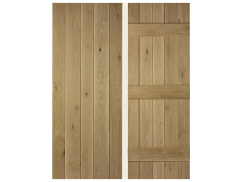 Ledged Oak Door - V Grooved