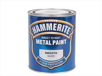 Hammerite Smooth (750ml - Silver)