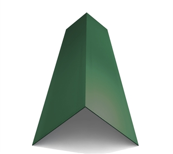 Poly Coated Angled Ridge Juniper Green (120° - 200mm x 200mm x 3000mm)