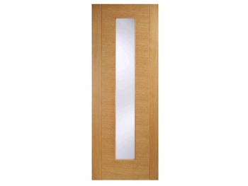 Aragon Glazed Oak Flush Door (Imperial)