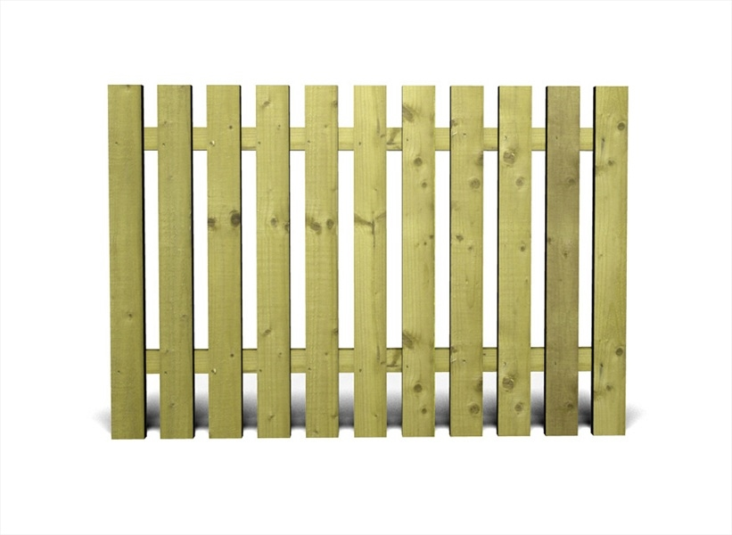 Green tudor heavy duty single panel 6 39 x 3 39 Tudor style fence