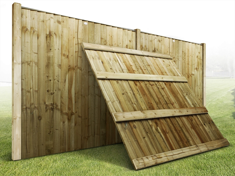6ft x 2ft Dome Featheredge Closeboard Fence Panels Feather edge bargain prices