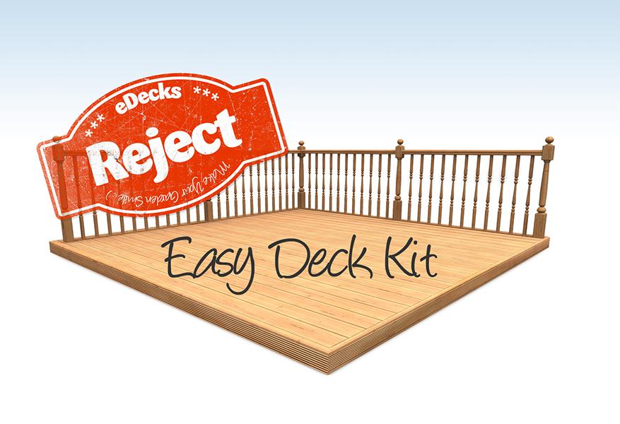 Garden decking kit reject decking kit with handrails 1 for Garden decking kits uk