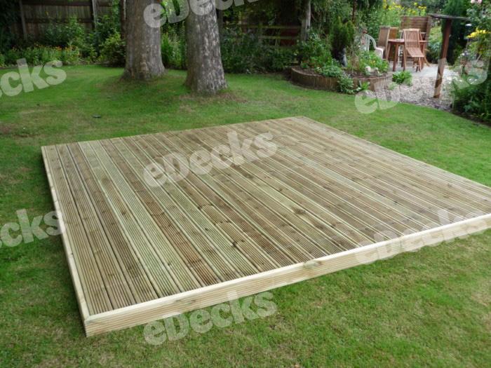 Garden decking kit x easy deck kit no handrails for Garden decking handrails