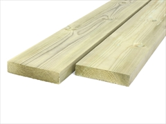 Green - Treated Planed Square Edge Timber (100mm x 25mm)