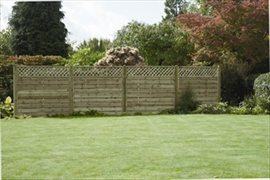 Horizontal Lattice Top Fence Panel (1.8m x 1.8m)