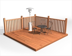 Cheap decking supplies hardwood decking boards edecks for Cheap decking boards uk