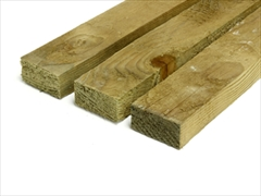 "Green - Rough Sawn Treated Timber (2"" x 1"")"