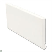 White Bullnose Replacement Fascia (150mm x 16mm x 5m)