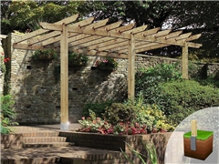 Lean To / CarPort Pergola 3.6m